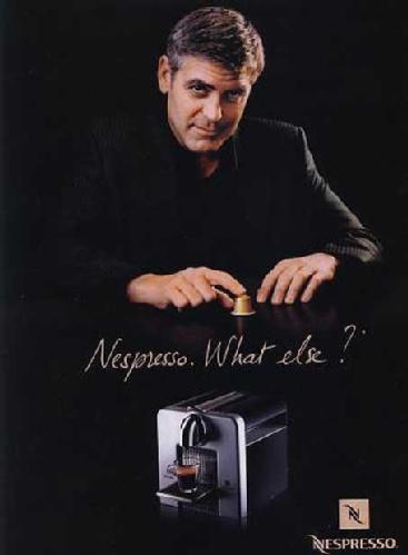 nespresso machine george clooney